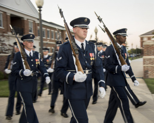 U.S. Air Force Honor Guard members march
